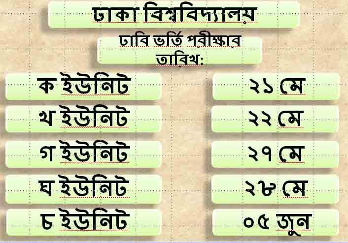 DU Exam date
